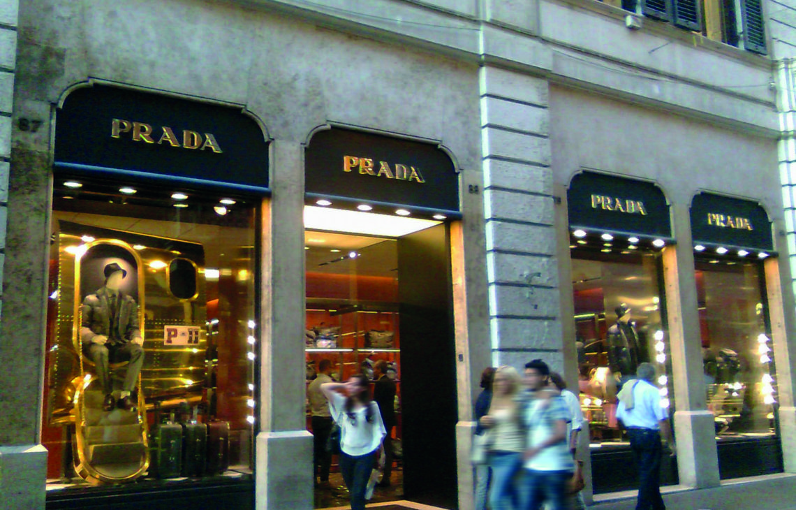 Roma, Via Condotti – Boutique Prada