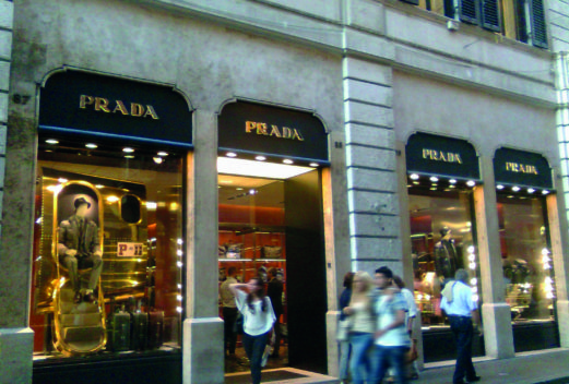 Roma, Via Condotti — Boutique Prada